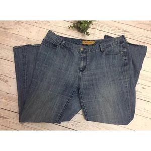 7 Seven Luxe Plus Size Wide Leg Jeans Size 22